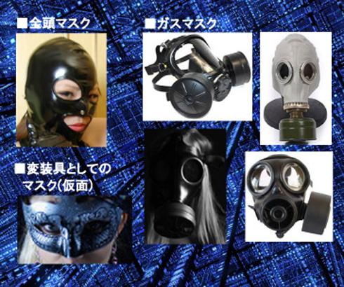 全頭マスク、ガスマスク、仮面