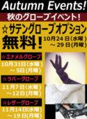 ☆グローブイベント! 11月14日(水曜)~11/19日(月曜)迄